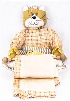 Кошка - держатель для полотенца 60см - фото 6010