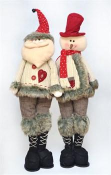 Снеговик/Дед Мороз 80см - фото 6921