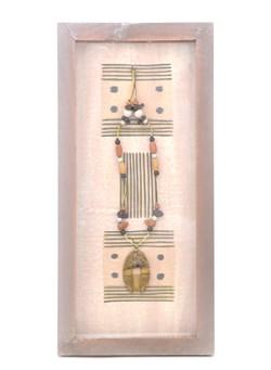Декоративное панно настенное розовое - фото 6967