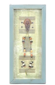 Настенное декоративное панно голубое - фото 6968