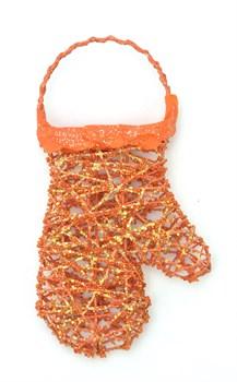 Варежка оранжевая - фото 7618