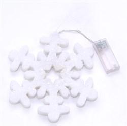 Снежинка  (LED)(на батарейках) - фото 7672