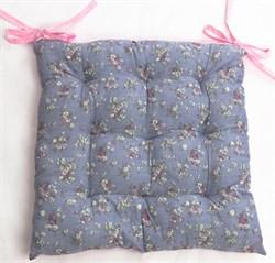 Подушка на стул голубая - фото 7709