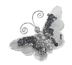 Бабочка (черный) на прищепке - фото 8455
