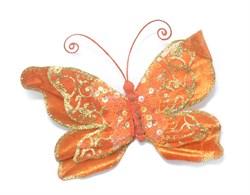 Бабочка(оранж) на прищепке - фото 8457