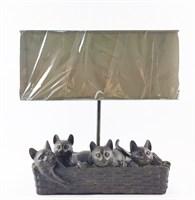 """Настольная лампа """"Кошки в корзине"""""""