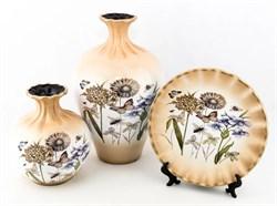 Комплект из 3-х предметов (вазы+блюдо)