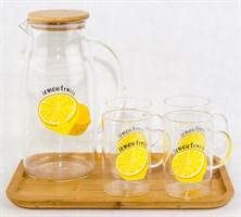 """Комплект Кувшин """"Лимон"""" и 4 чашки"""
