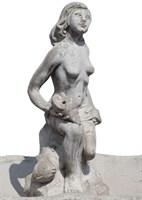"""Насадка на фонтан  """"Девушка на камне"""""""