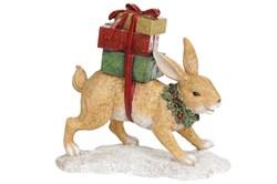 Заяц с подарками (беж)