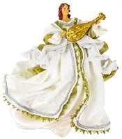 """Подвесной ангел с мандалиной """"Элегантный золотой"""""""