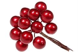 Декоративный букетик ягод (бордо) (12)