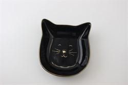 """Тарелка """"Котик""""(черный)"""