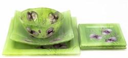 Комплект посуды (зеленый)