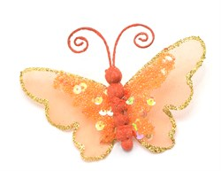 Бабочка(оранж) на прищепке